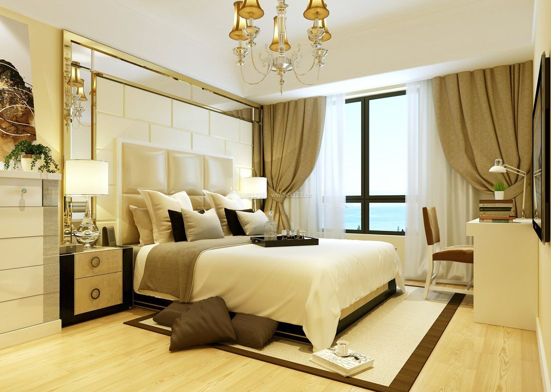 2017欧式宜家家居卧室背景墙设计图片案例