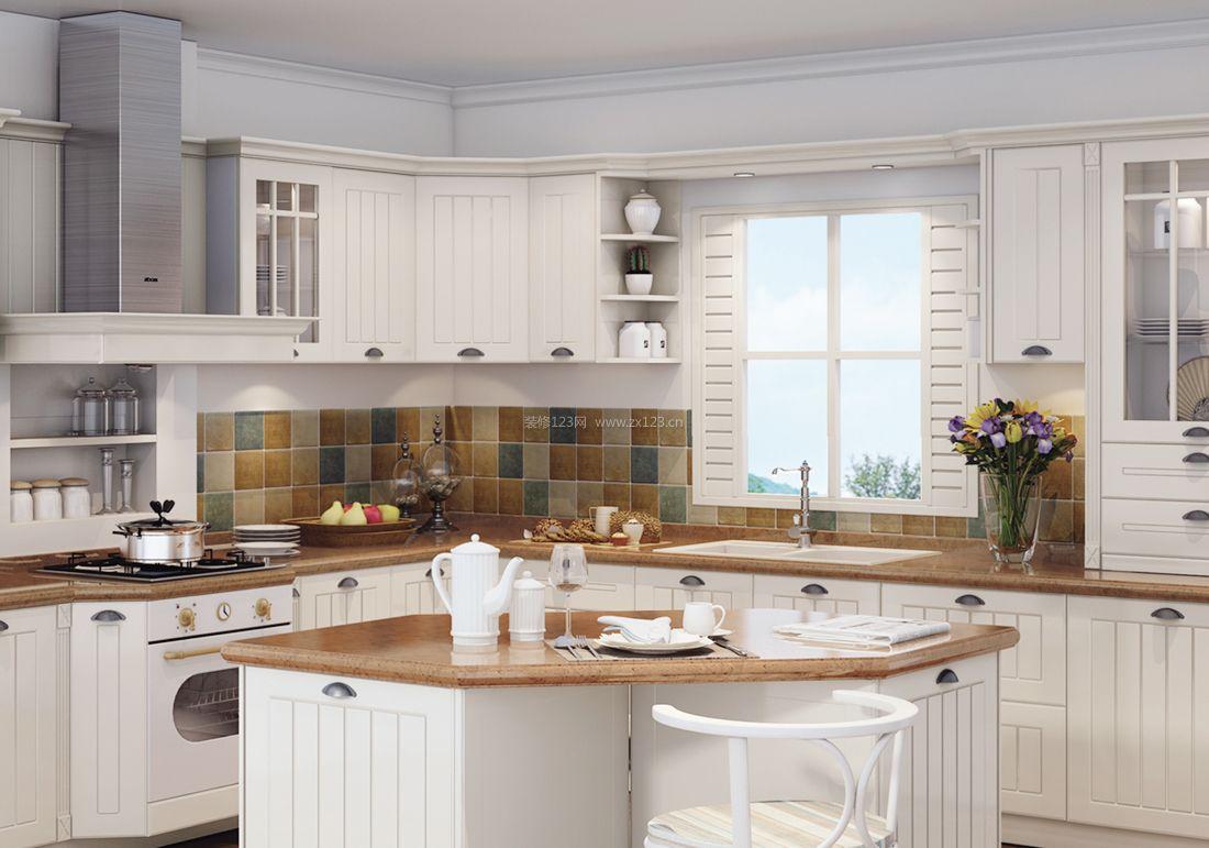 2017欧式简约风格厨房吊柜装修效果图图片