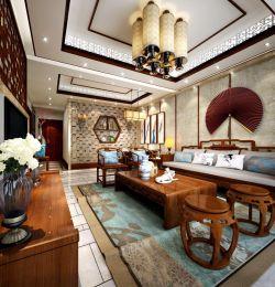 小戶型大客廳中式家具擺放裝修效果圖片