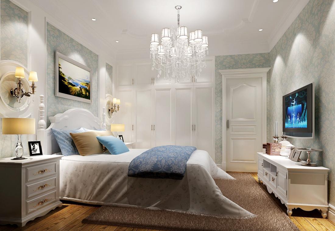最新简欧家装风格女生卧室装饰品装饰效果图片
