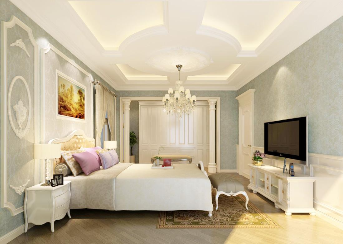 2017欧式室内女生卧室装饰品装修效果图