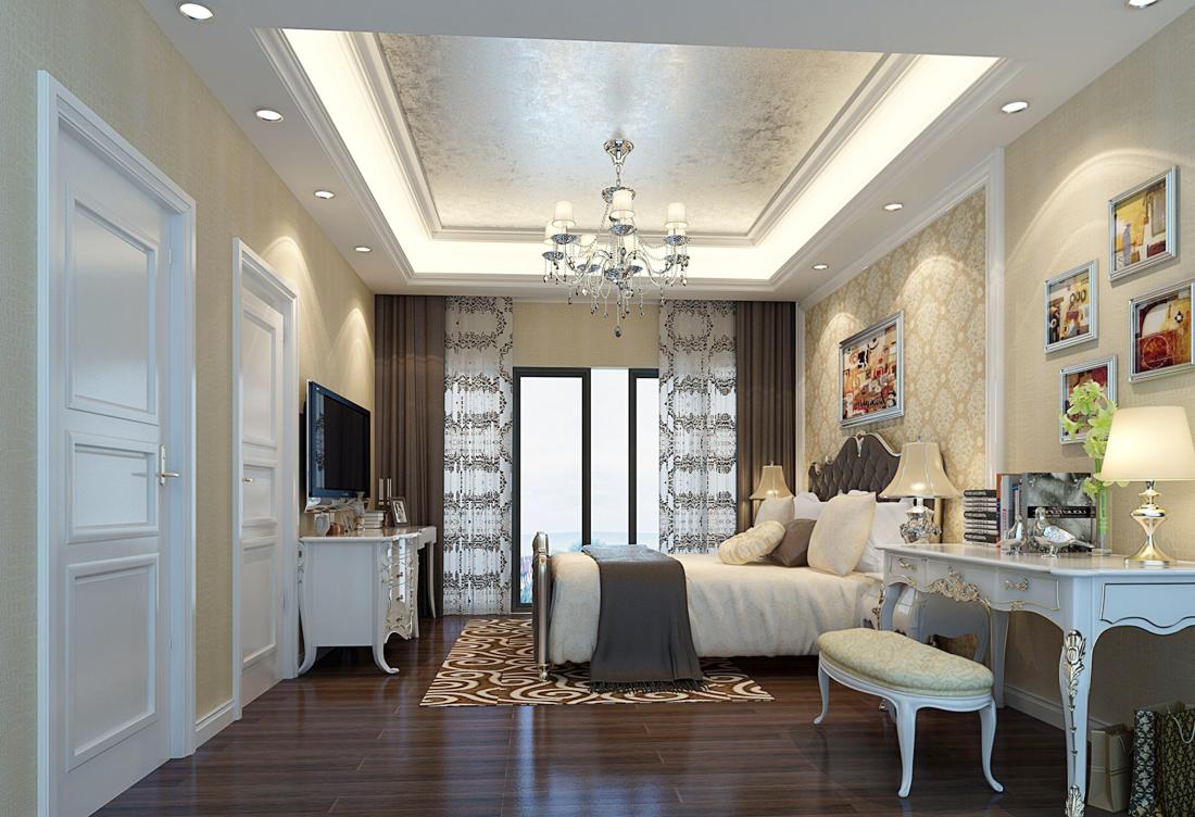最新欧式别墅女生卧室装饰品装修图片大全