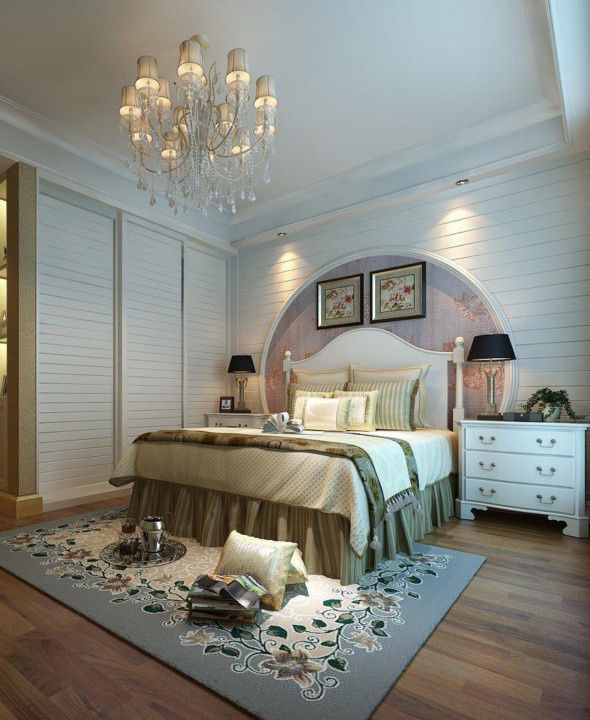 欧式风格卧室床头背景墙设计效果图大全