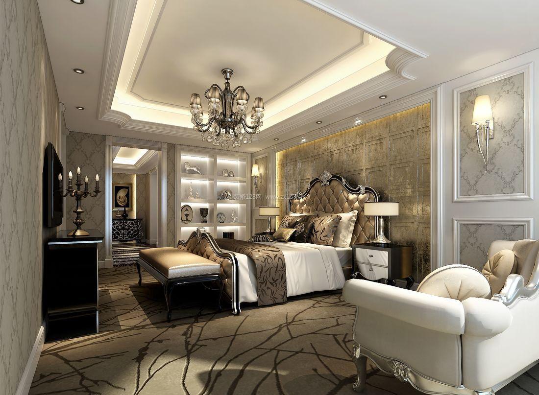 现代简约混搭欧式卧室风格背景效果图_装修123效果图图片