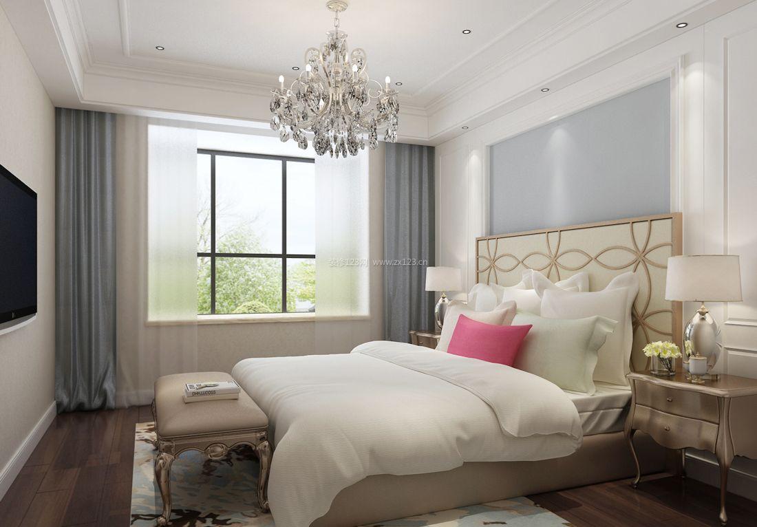 最新现代100平米女孩卧室装修效果图图片