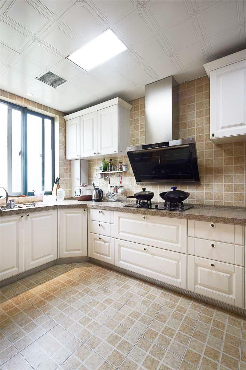 厨房地板砖颜色效果图片2017图片