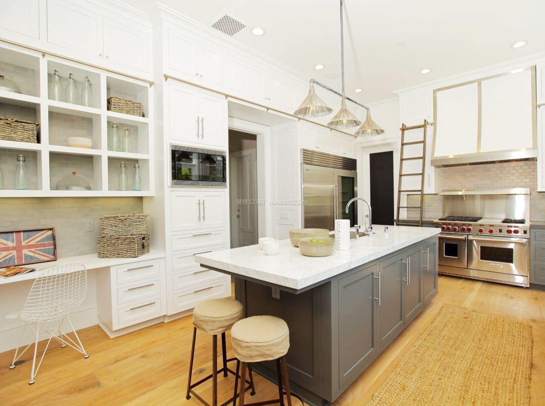 2017简约现代美式家装厨房橱柜装修效果图