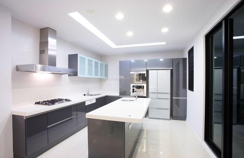 厨房地板砖颜色装修效果图片2017