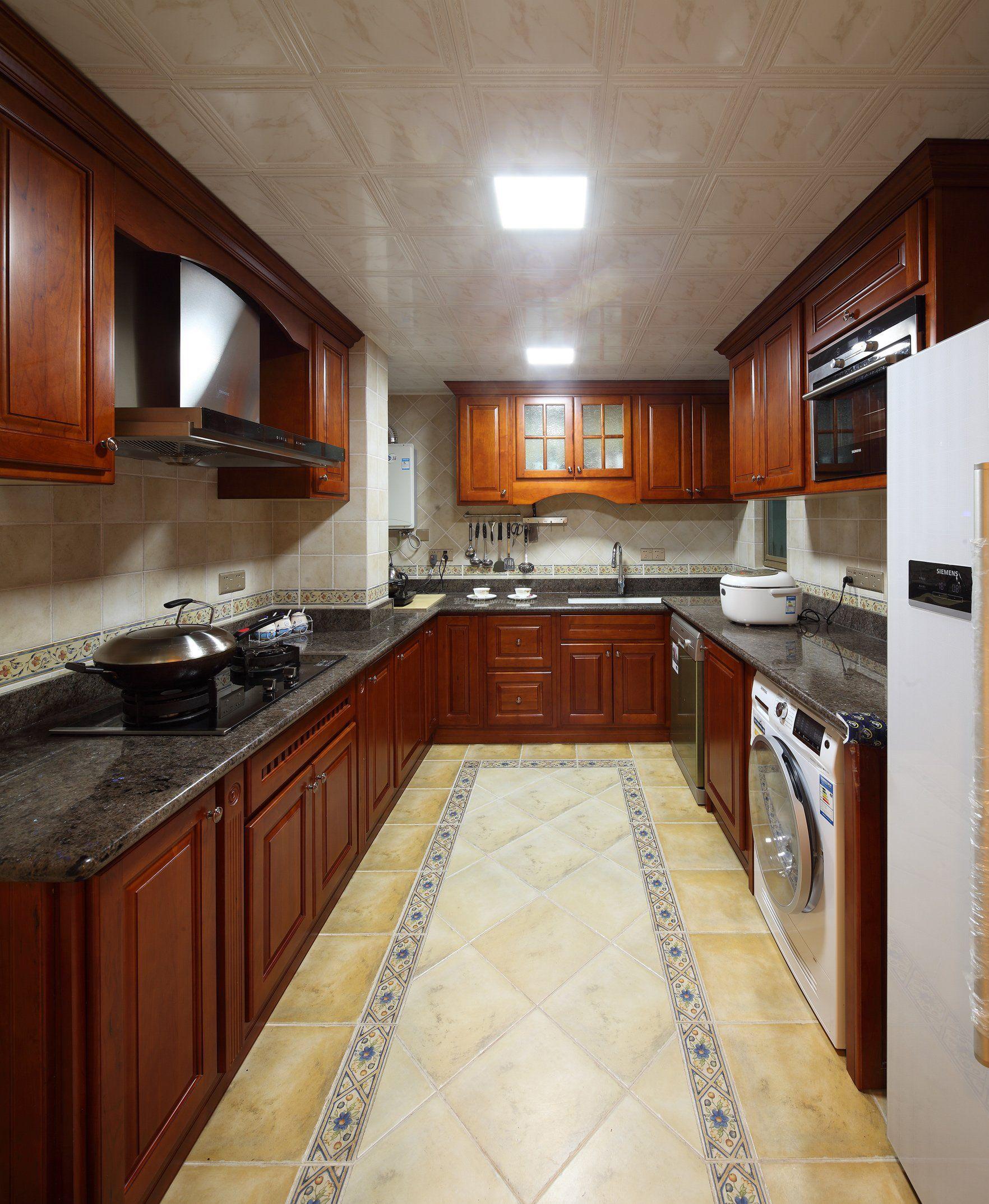 房屋厨房地板砖颜色设计图片