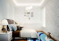 現代歐式100平米兒童臥室墻面壁紙裝修效果圖