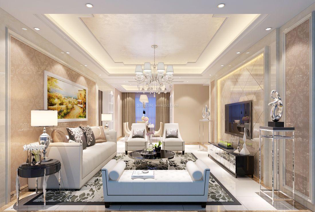 2017純歐式家裝客廳設計裝修效果圖片