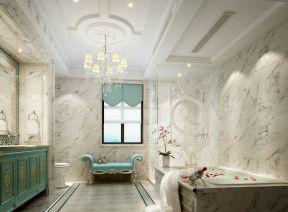 简欧风格别墅装修图片 浴室设计效果图