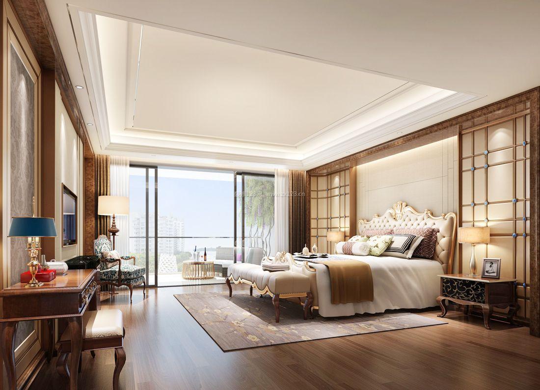最新现代简欧风格别墅大卧室装修效果图案例