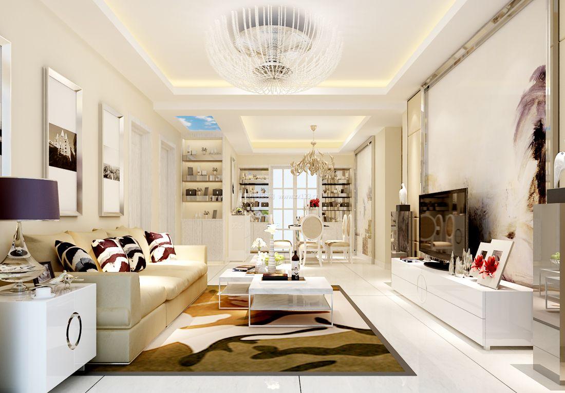 欧式小户型简约客厅装饰灯装修效果图片大全