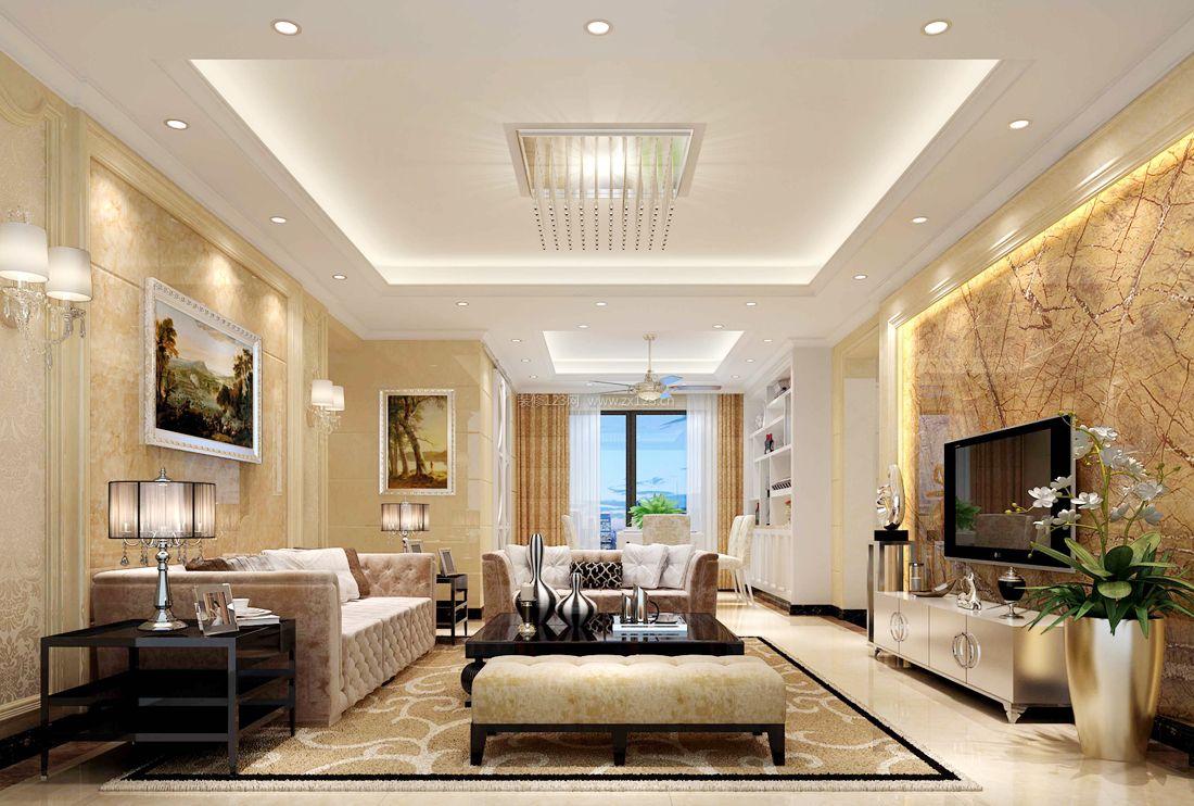 最新欧式小户型室内简约客厅设计效果图案例