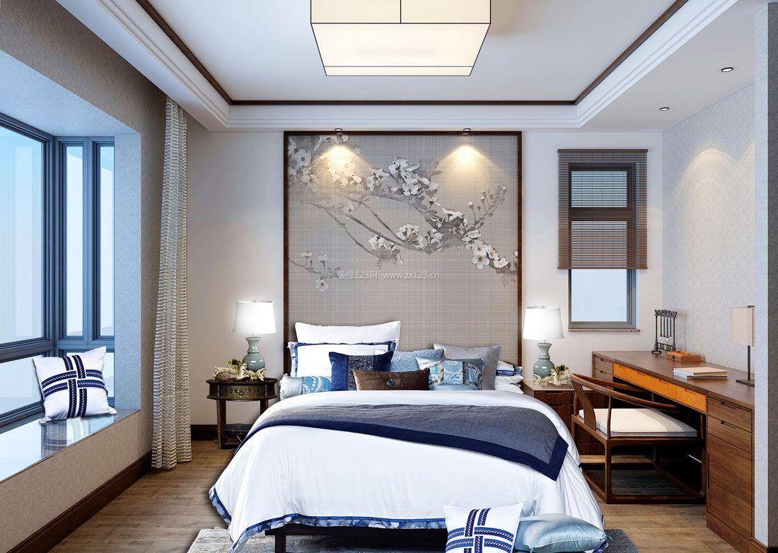2017时尚中式风格家居卧室装饰效果图图片