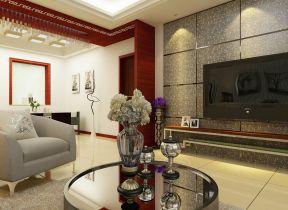 小戶型簡約客廳 客廳電視背景墻裝修圖