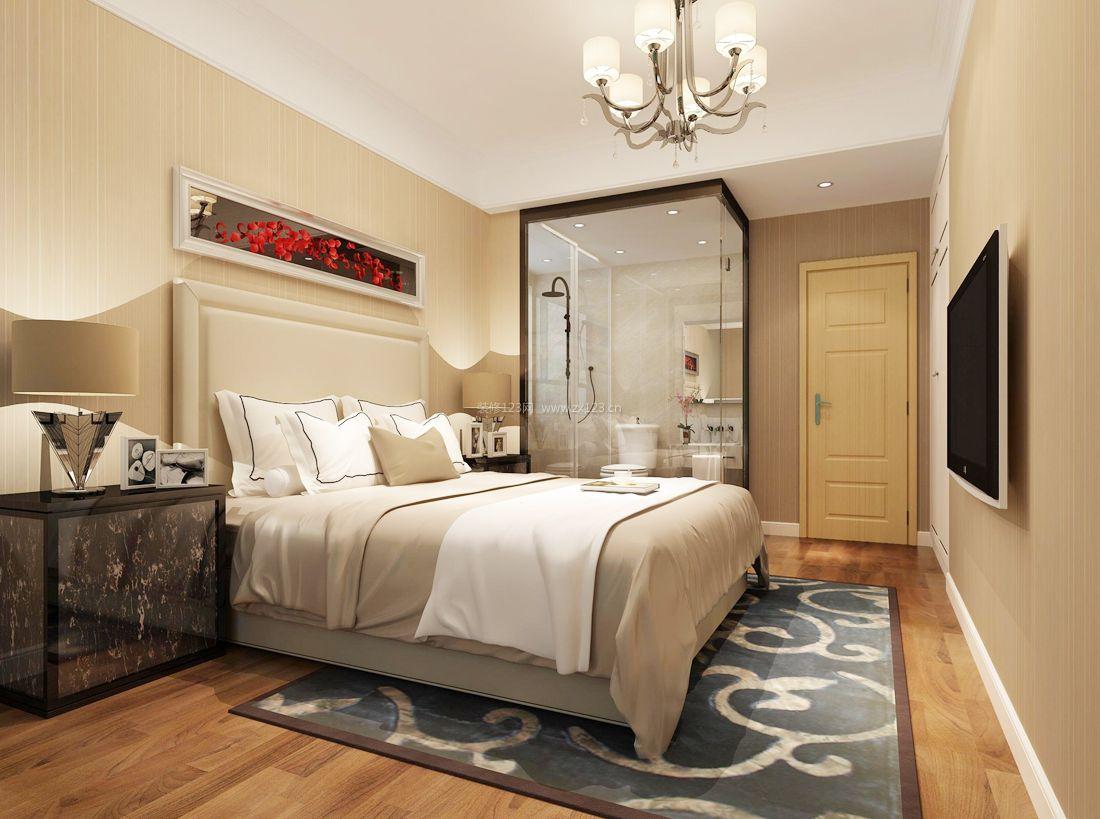 2017欧式家居别墅卧室地毯装修效果图片