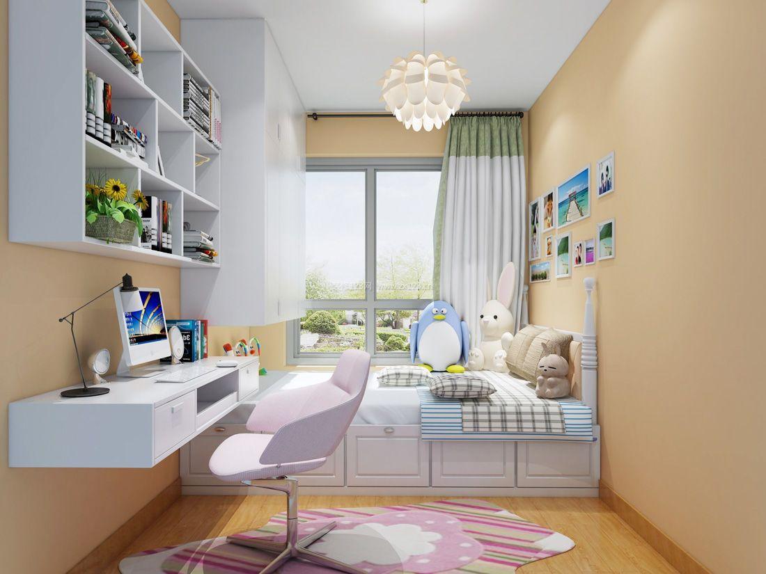 经典现代简约风格女孩卧室装修效果图