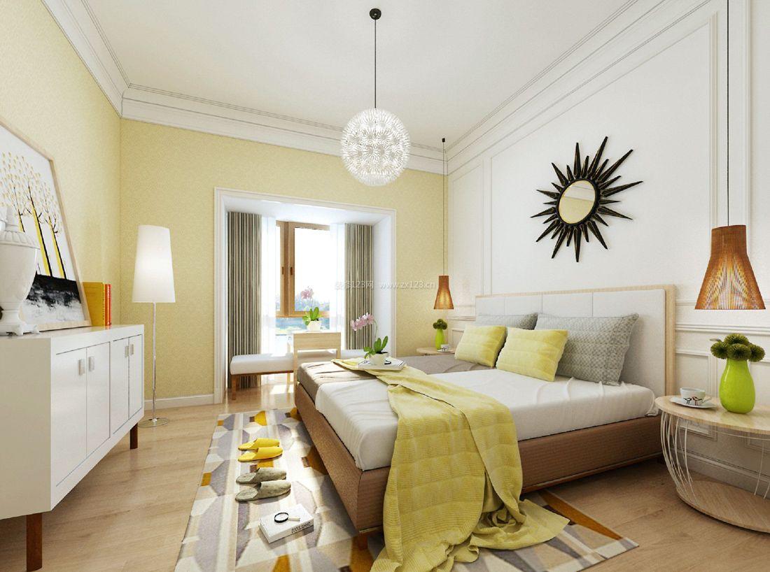 现代简约时尚风格家装卧室装修效果图案例