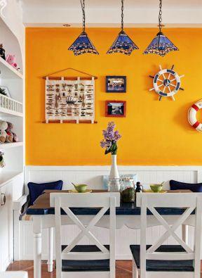 地中海餐厅风格 墙面装饰装修效果图片