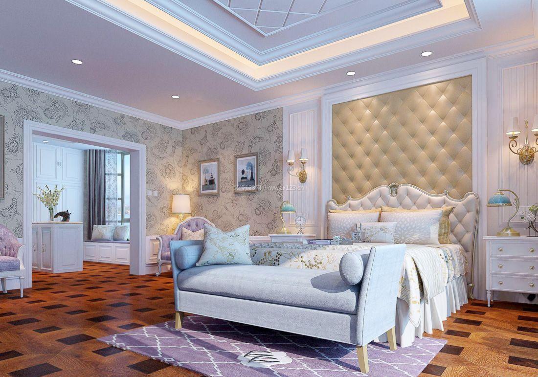 欧式复式家居卧室壁纸装修效果图2017