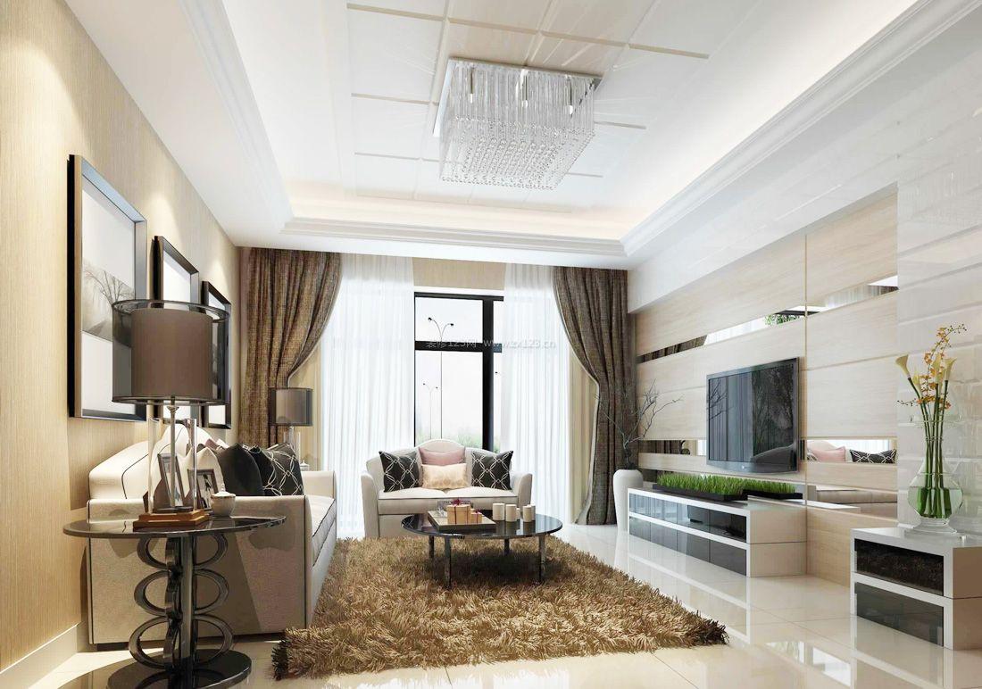 现代欧式风格客厅背景墙装修效果图片