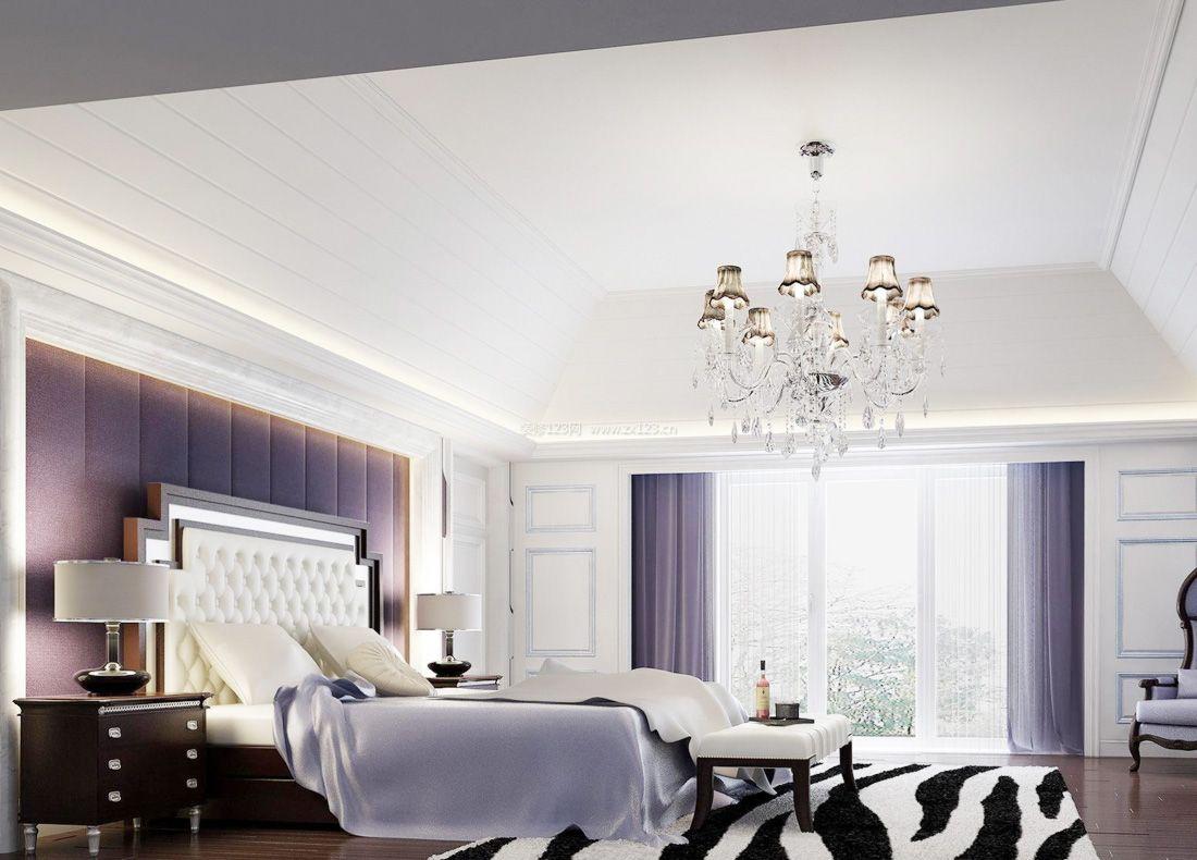 欧式复式家居大卧室窗帘装修效果图图片