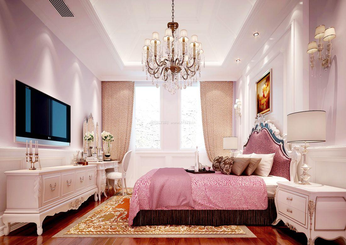最新欧式家装设计女孩卧室装修效果图案例