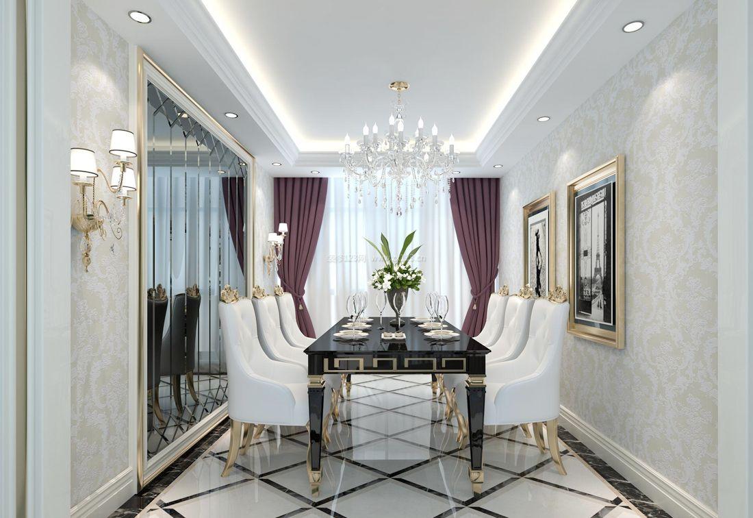 2017欧式家装设计餐厅拼花地砖装修效果图片-欧式风格 装修设计效果
