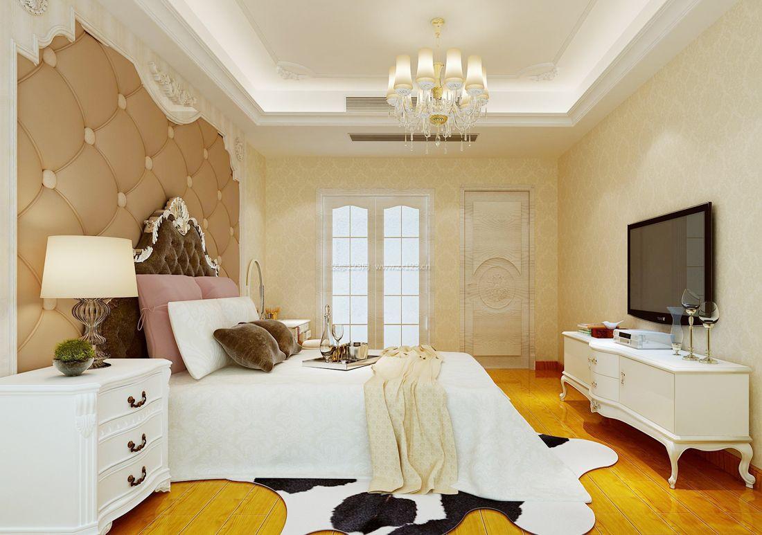 2017欧式家装卧室背景墙设计装修效果图片