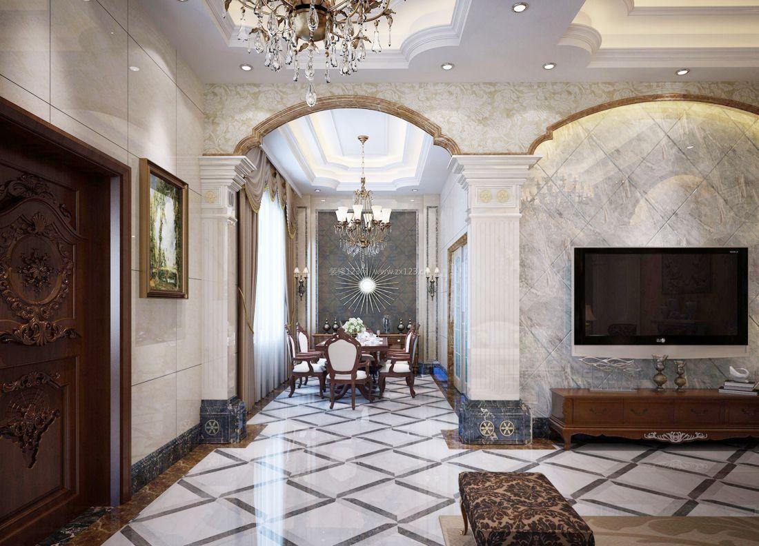 2017欧式家装别墅餐厅设计装修效果图