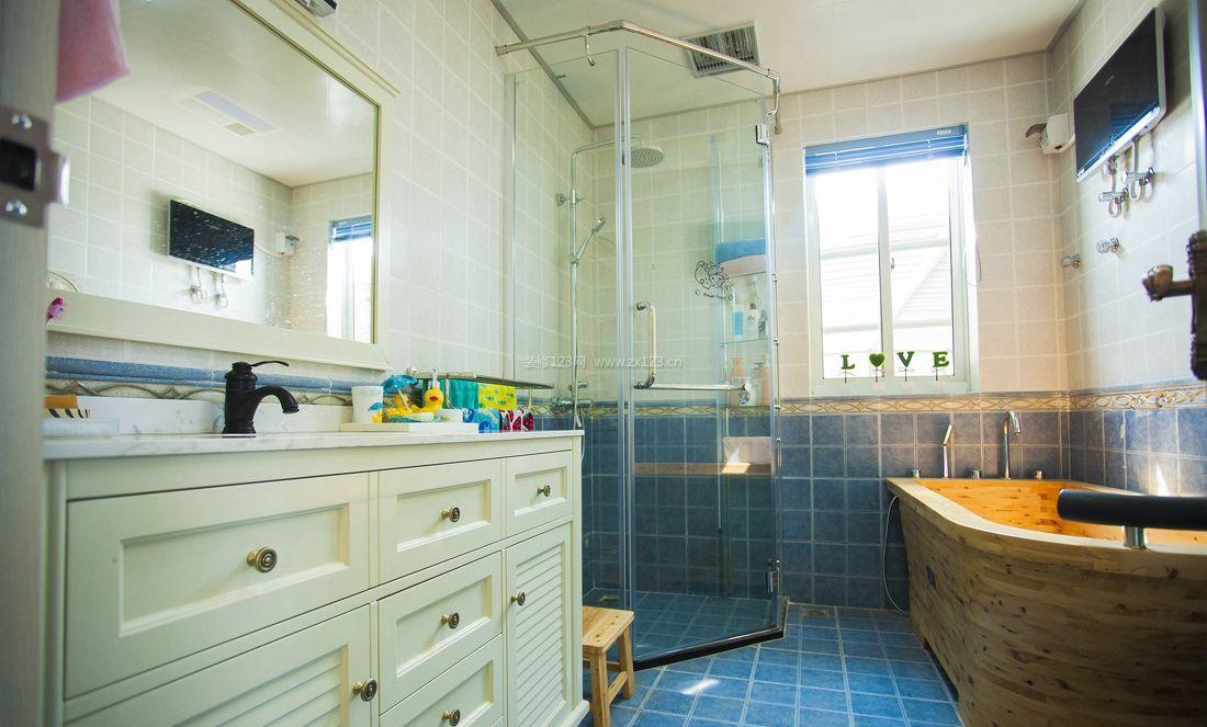 小户型简欧风格卫生间浴室装修图_装修123效果图图片