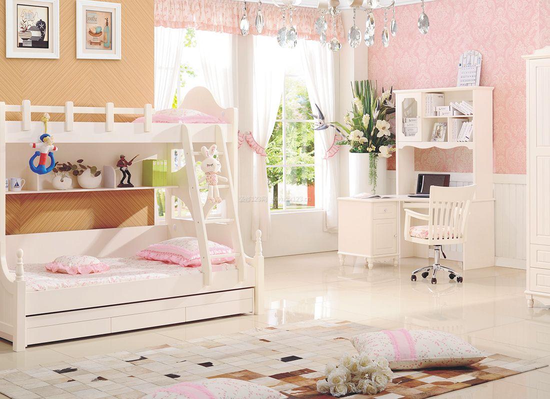 欧式儿童房间高低床装修设计实景效果图片
