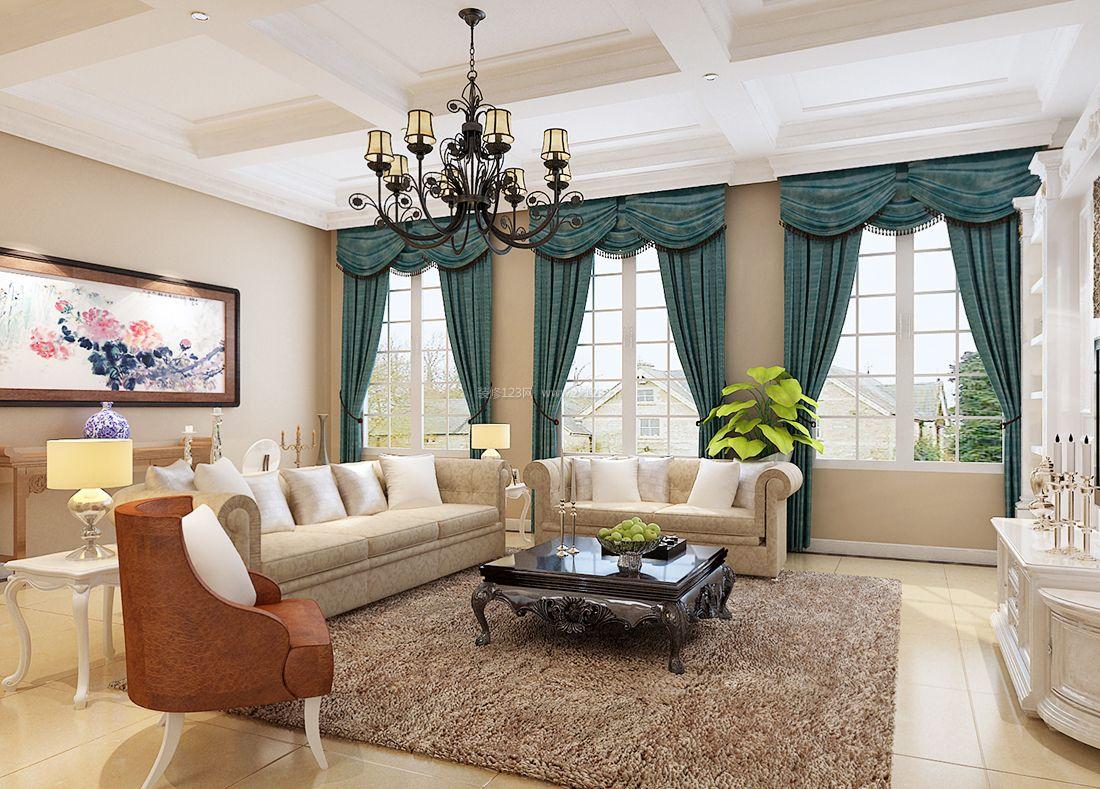 简约欧式现代家装风格客厅装修效果图片