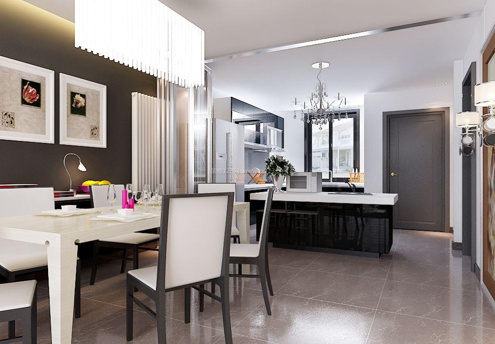 2017简约现代家装开放式厨房装修效果图片图片