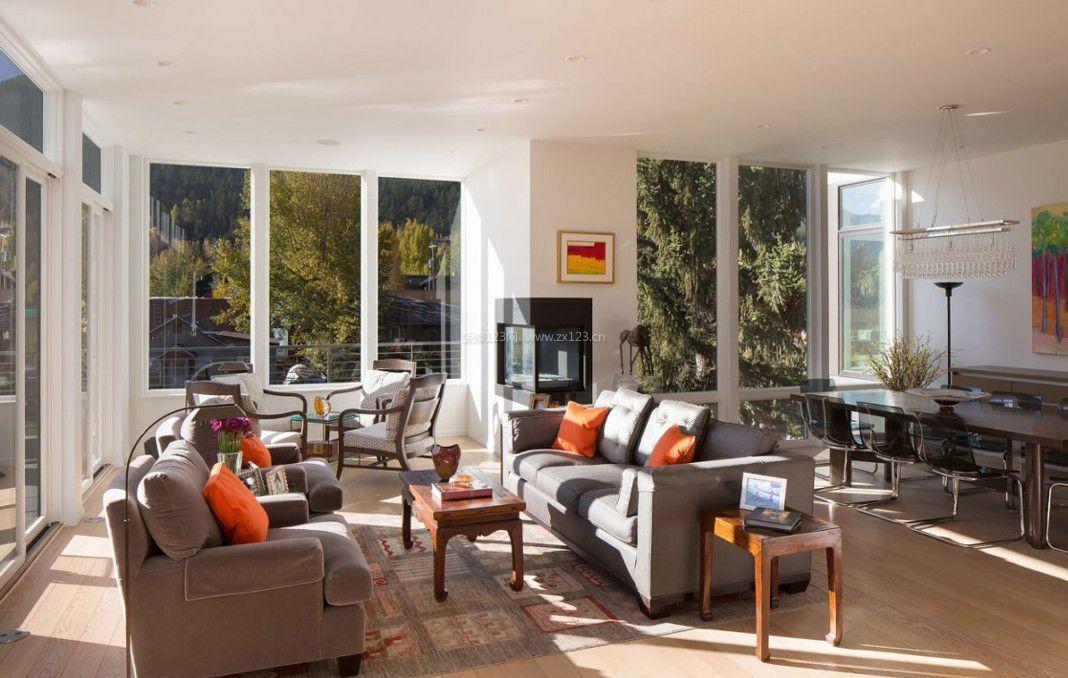 简欧式客厅窗户设计效果图大全_装修123效果图图片