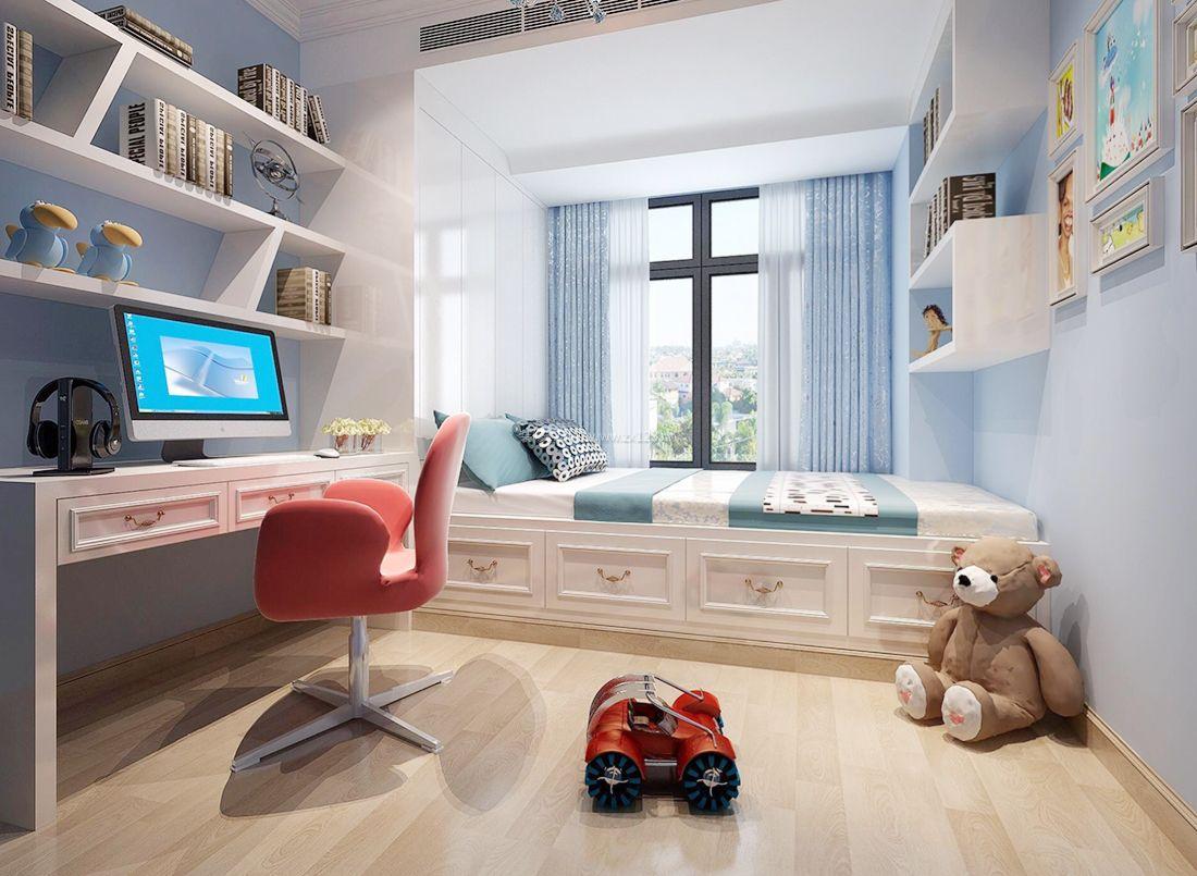 2017简约现代儿童房间书架设计实景效果图