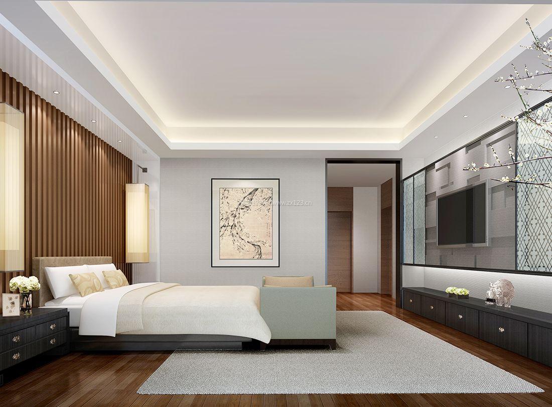 2017现代中式风格浪漫卧室装修效果图片