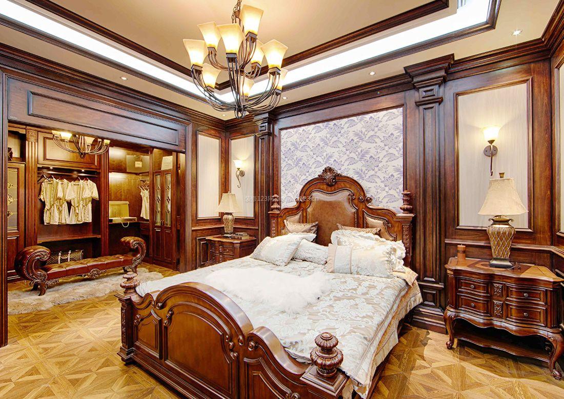 美式乡村风格大卧室衣柜装修效果图图片