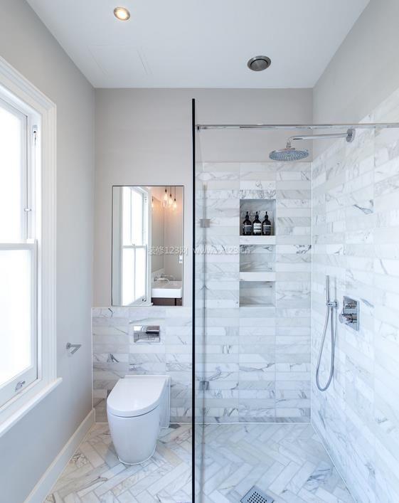 50平米小户型卫生间瓷砖装修图片