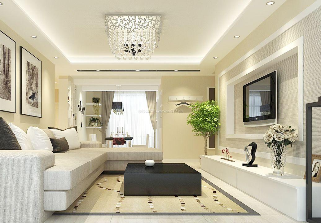家装效果图 现代 2017现代简约风格客厅白色电视柜图片大全 提供者