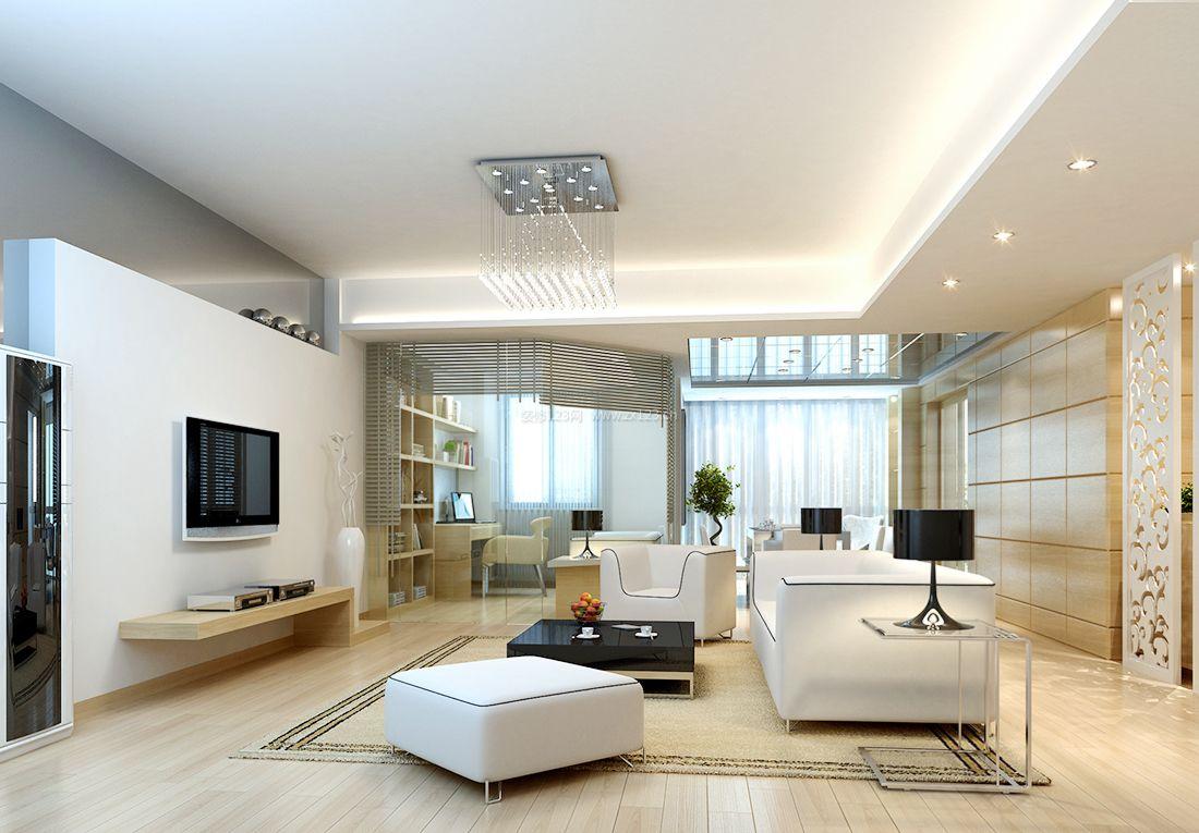 白色客厅装修风格_图片素材