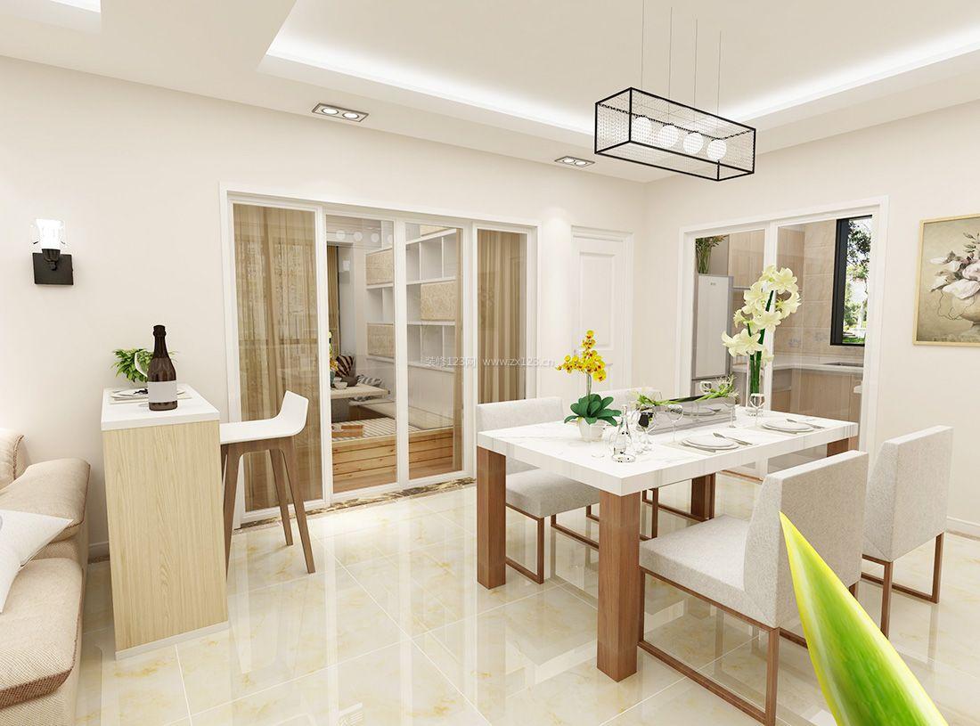 现代简约风格室内白色墙面装修效果图片