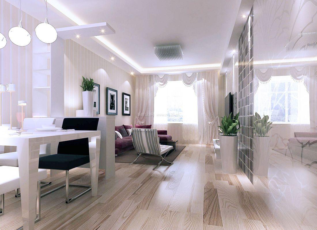 最新现代简约风格客厅白色吊顶装修效果图大全