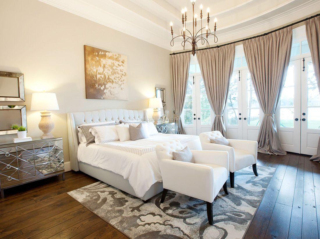 2017简约美式风格浪漫卧室装修效果图片图片