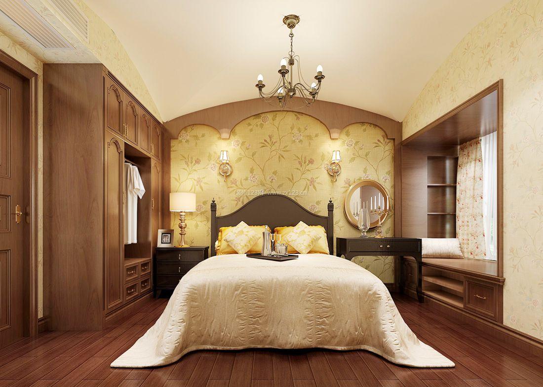 2017美式乡村风格高档卧室衣柜装修效果图片图片