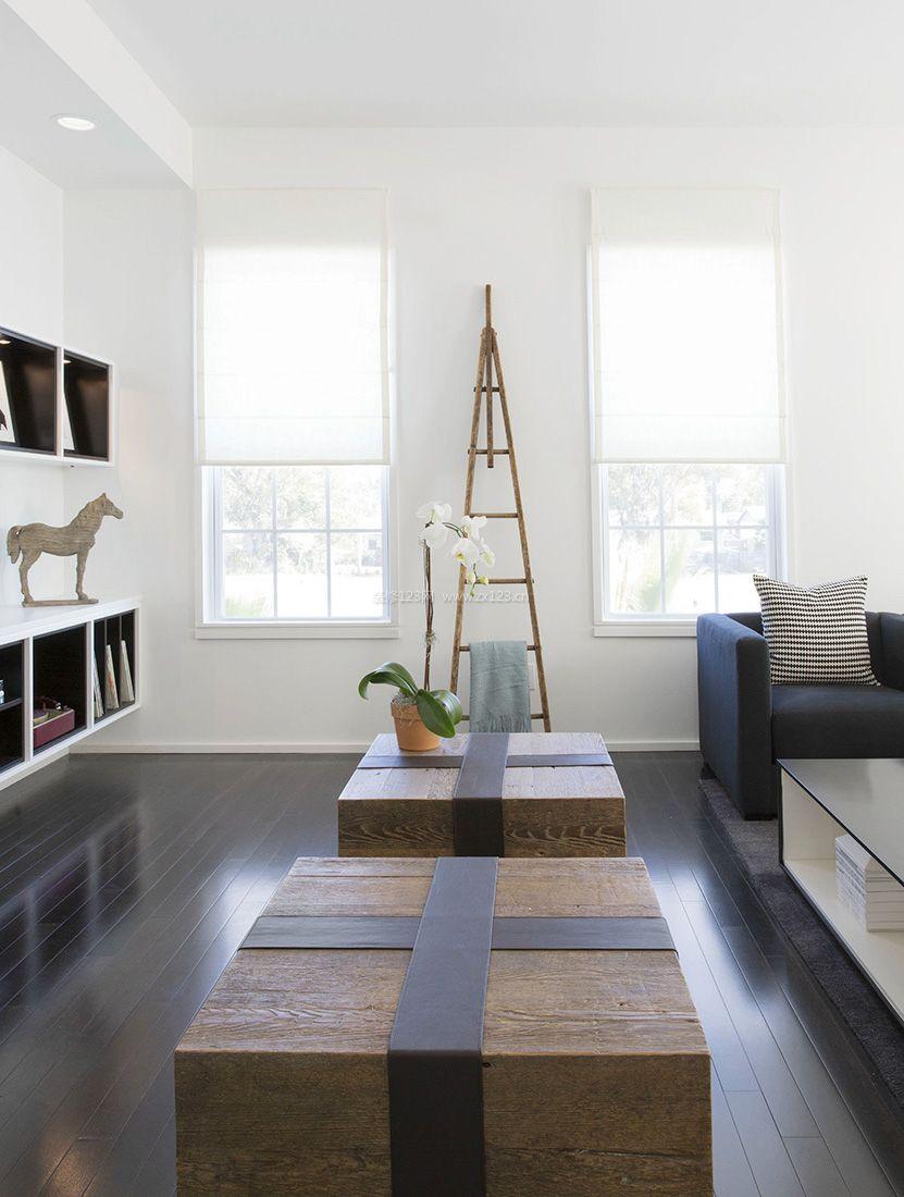 2017现代简约风格小客厅白色墙面装修效果图片-集成墙面现代简约装