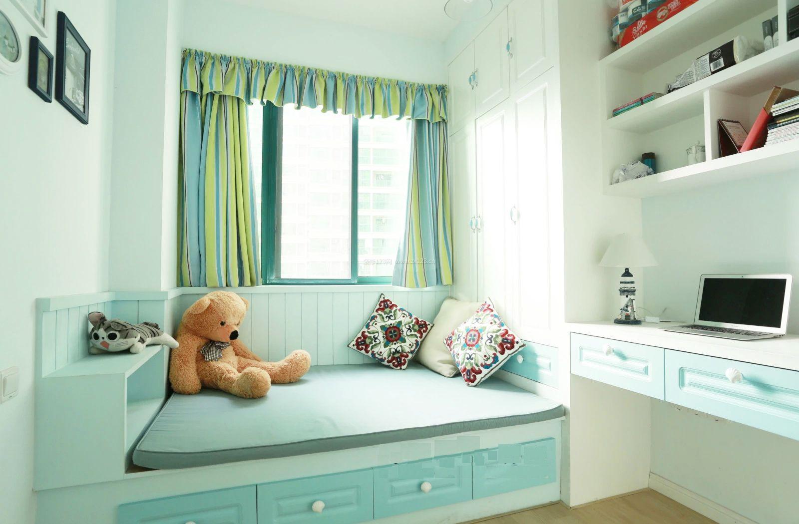 儿童小卧室榻榻米床设计效果图图片