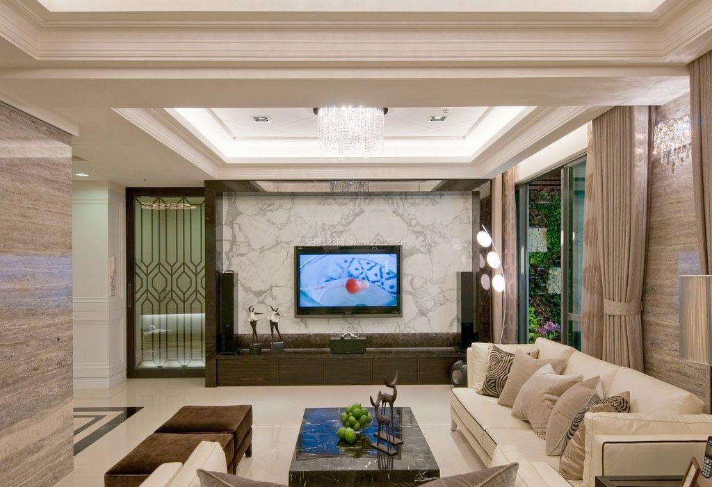 房屋客厅电视背景墙装修图片欣赏